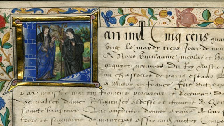 Détail d'un manuscrit enluminé