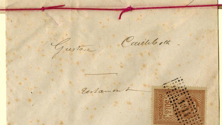 Le testament de 1876 – enveloppe (recto)