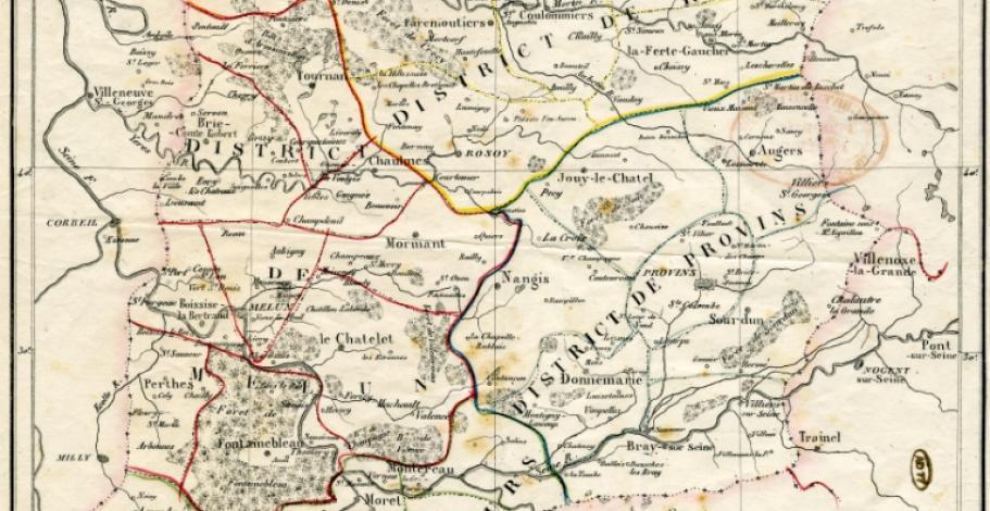Carte du département de Seine-et-Marne en 1790